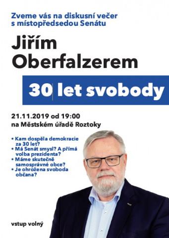 Jiří Oberfalzer, diskuse Roztoky